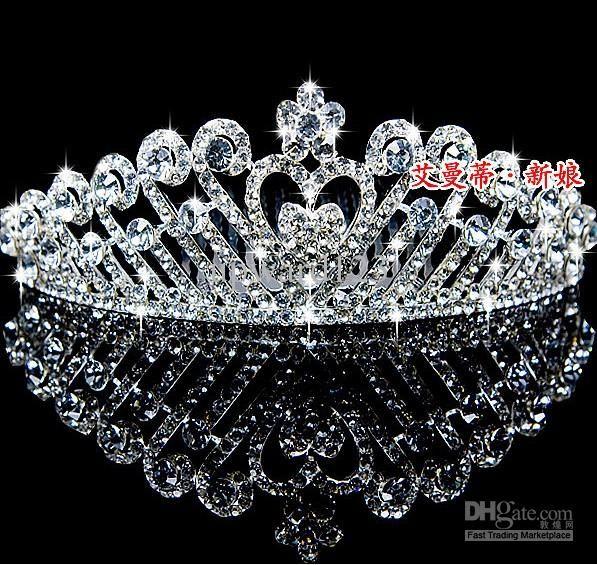 Cheap Charming Bridal Crown Diamond Tiara Wedding Headwear Tiaras Amp Hair Accessories Aaa GtGtR563waq As Low 1009 Also Buy