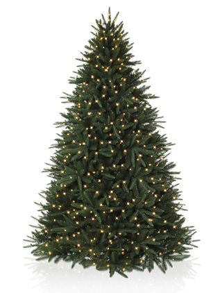 Black Spruce Artificial Christmas Tree With Simple String