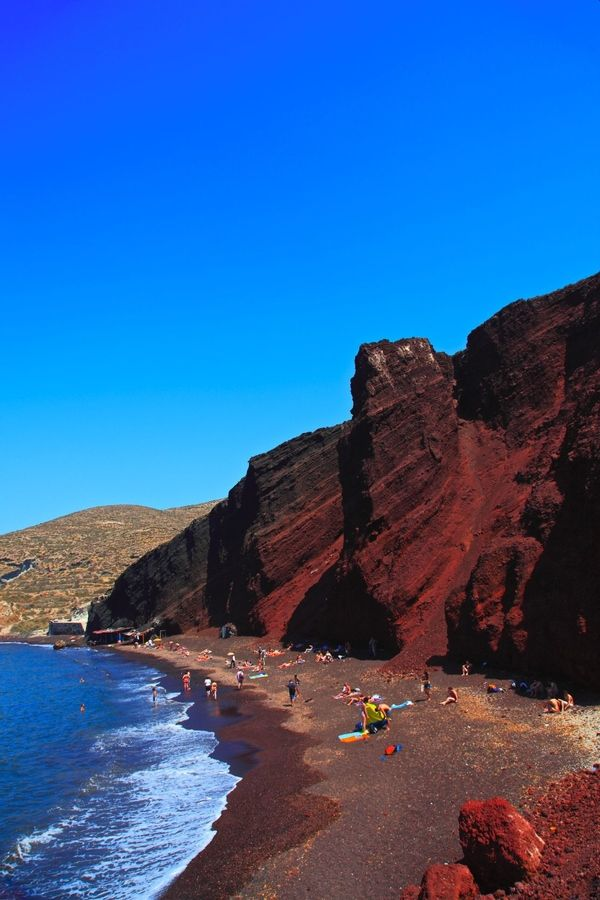 Bing Travel Indicator : The red beach santorini greece amazing world