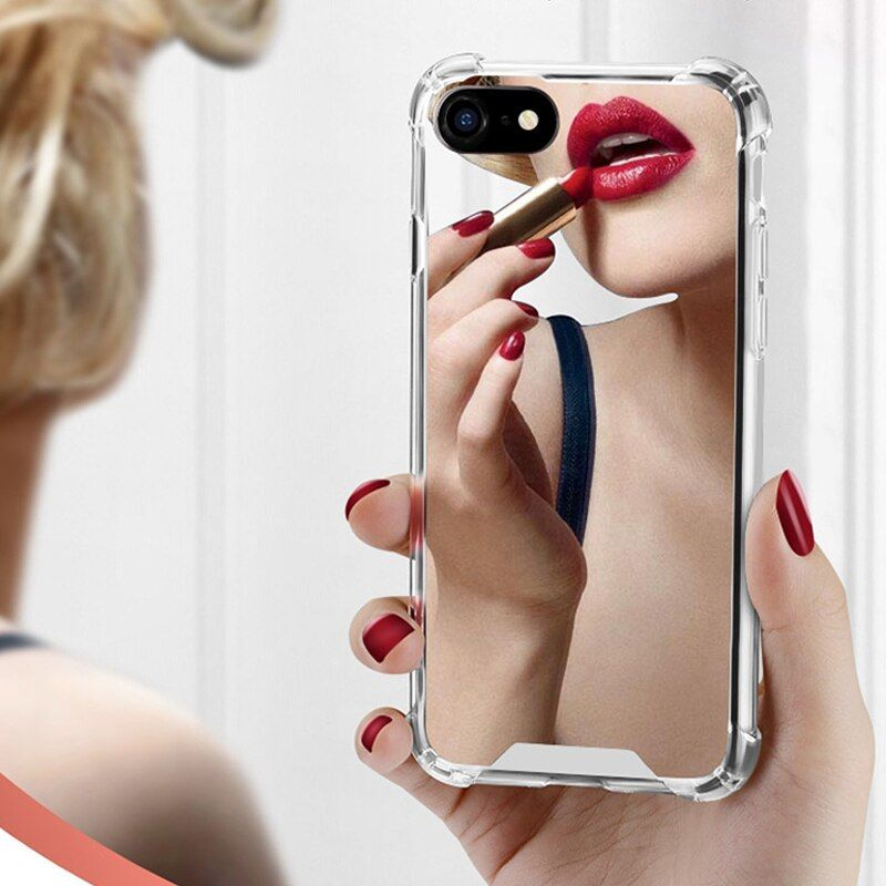 #luxury #mirror #case #iphone #max #cover #silicone #soft #tpu #shockproof #plus #coque #women #makeup #mobile #phone #accessories #parts
