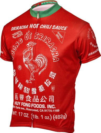 Sriracha cycling jerseys ship free all across the United States. We love  Sriracha hot sauce and we re excited they made it into a jersey 586a854cc