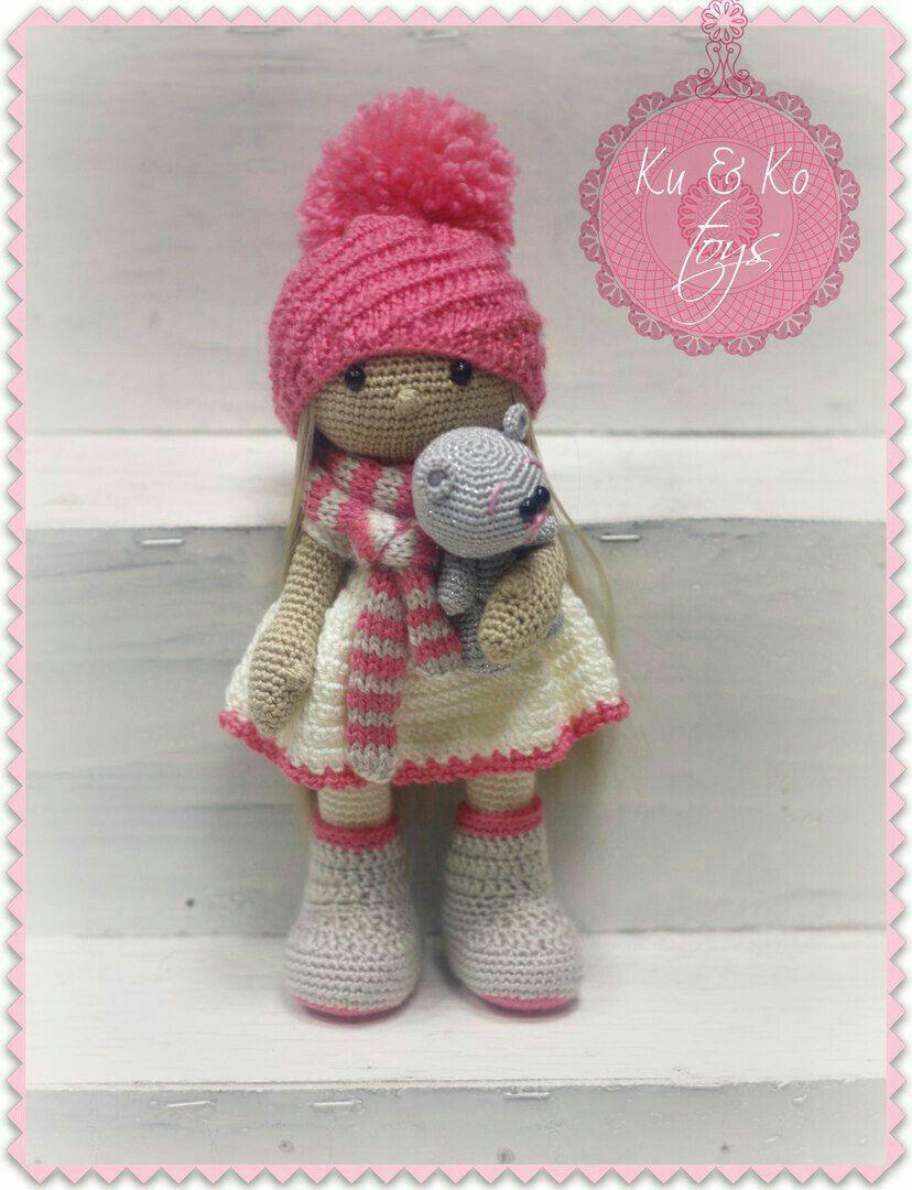 Pin von Ca Sem auf CaroCreated, Cute Dolls, crochet doll, handmade ...