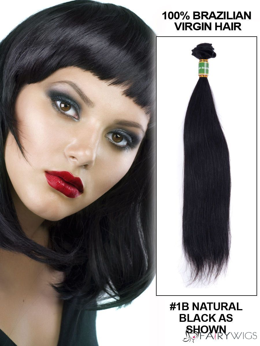12 Inch Straight Brazilian Virgin Hair Extension Weft Natural