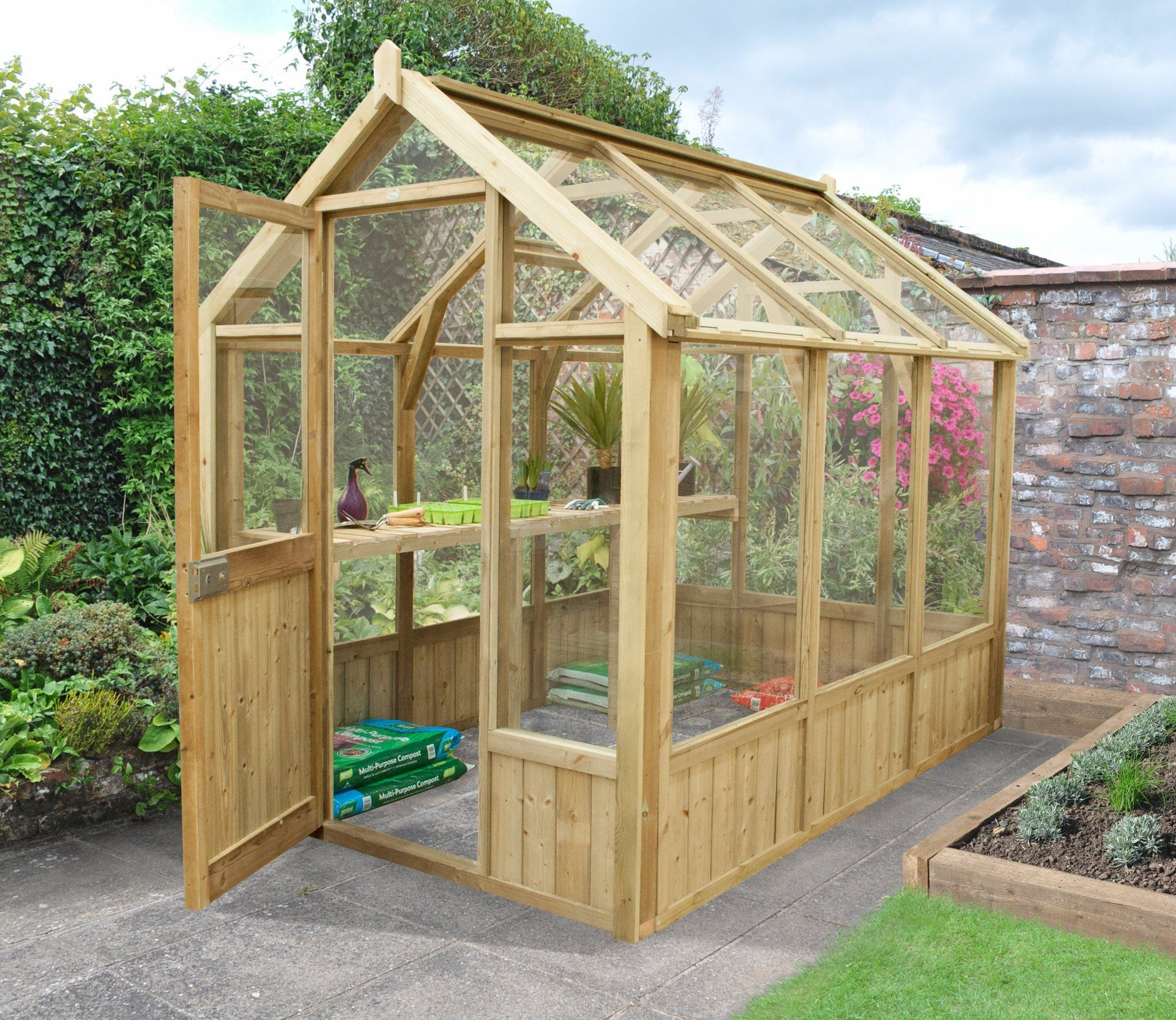 Excellent Forest Vale 6 X 8 Ft Victorian Greenhouse Greenhouse Home Interior And Landscaping Oversignezvosmurscom