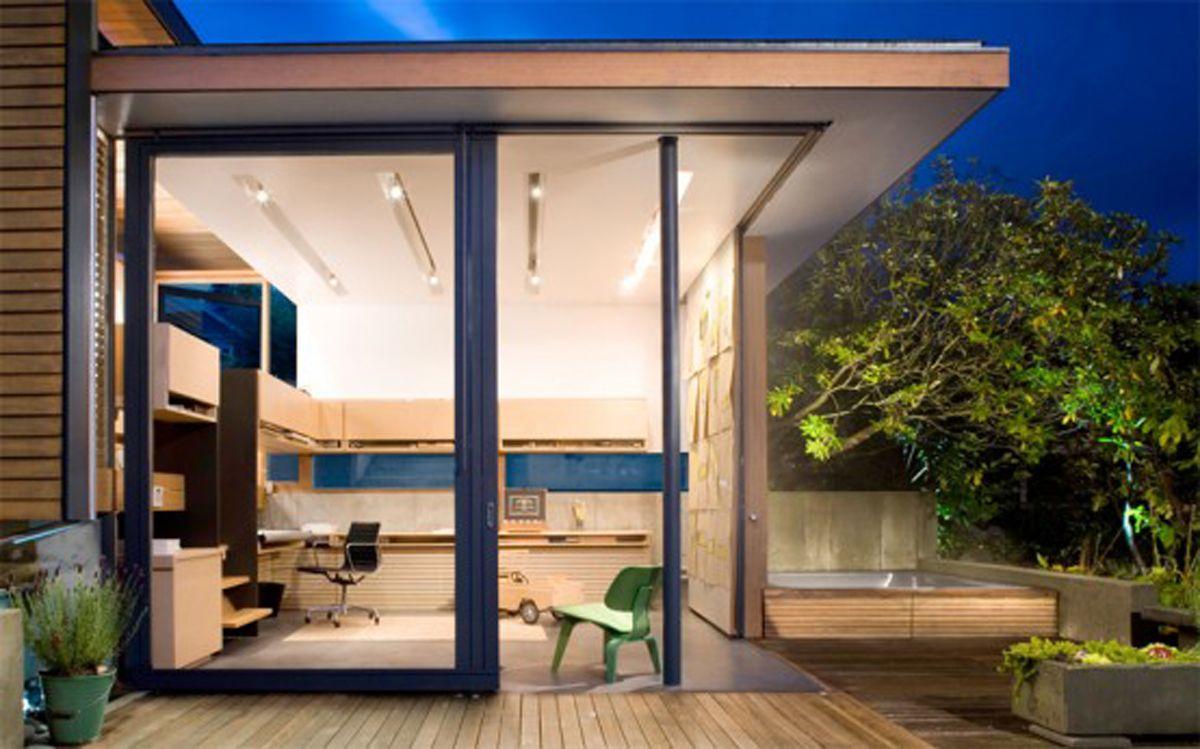 Indoor-outdoor office.   Outdoor Design   Pinterest   Outdoor office ...