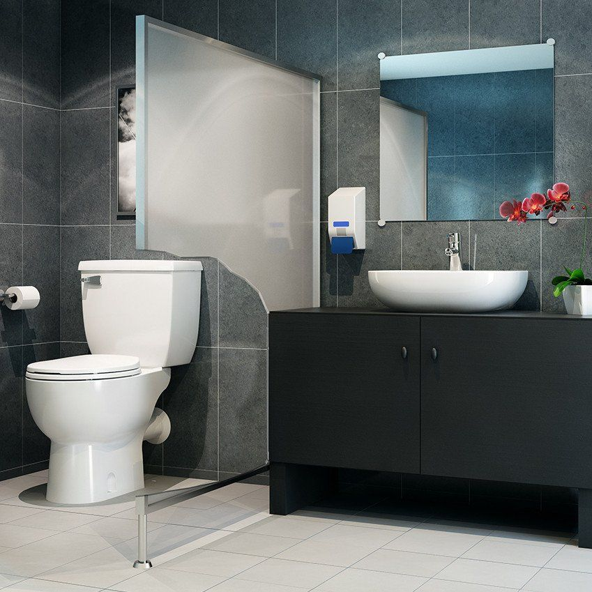 saniflo saniBEST basement toilet pump & Saniflo SaniBEST Pro Upflush Toilet KIT (W/ Macerator Pump + Tank ...