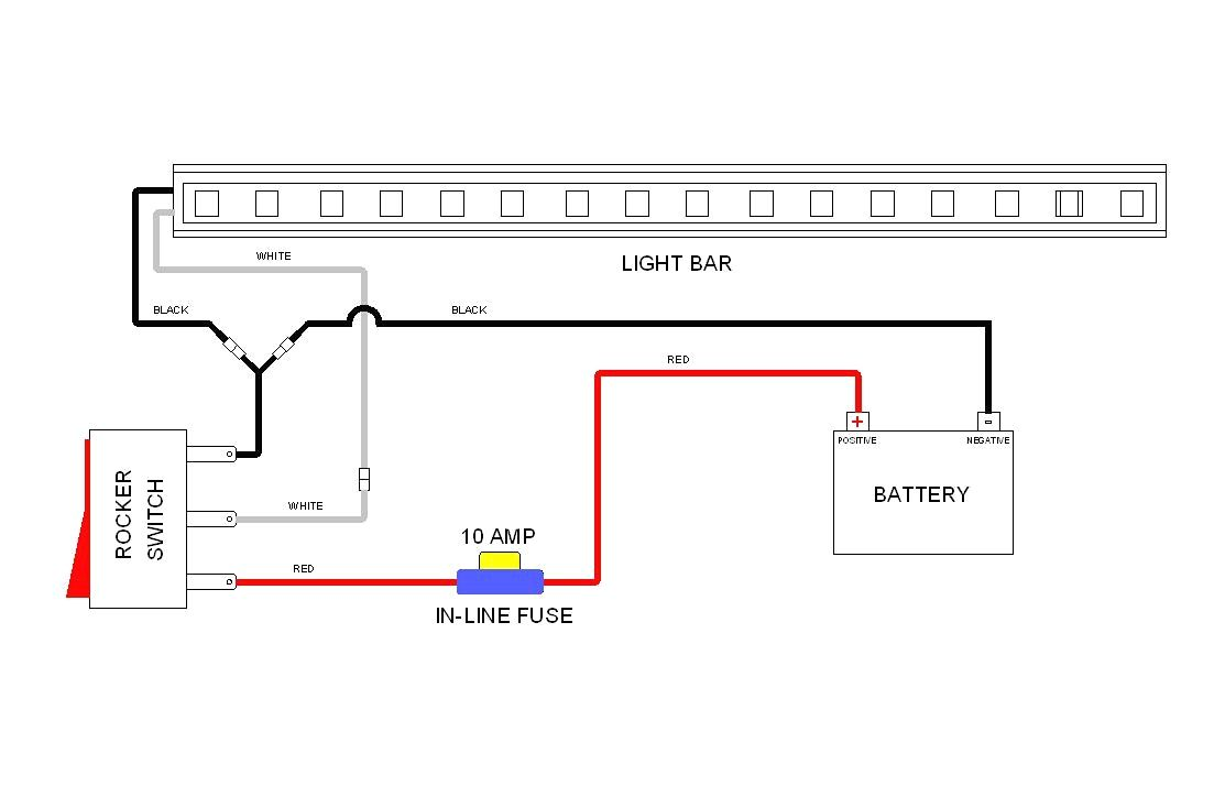 light bar wiring diagram with wire truck bar lighting 1-Way Light Switch Diagram
