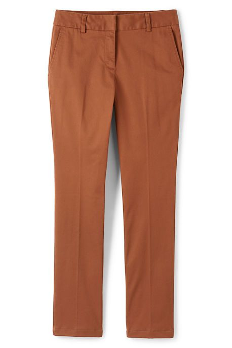 Mid Rise Chino Straight Leg Pants | Lands' End