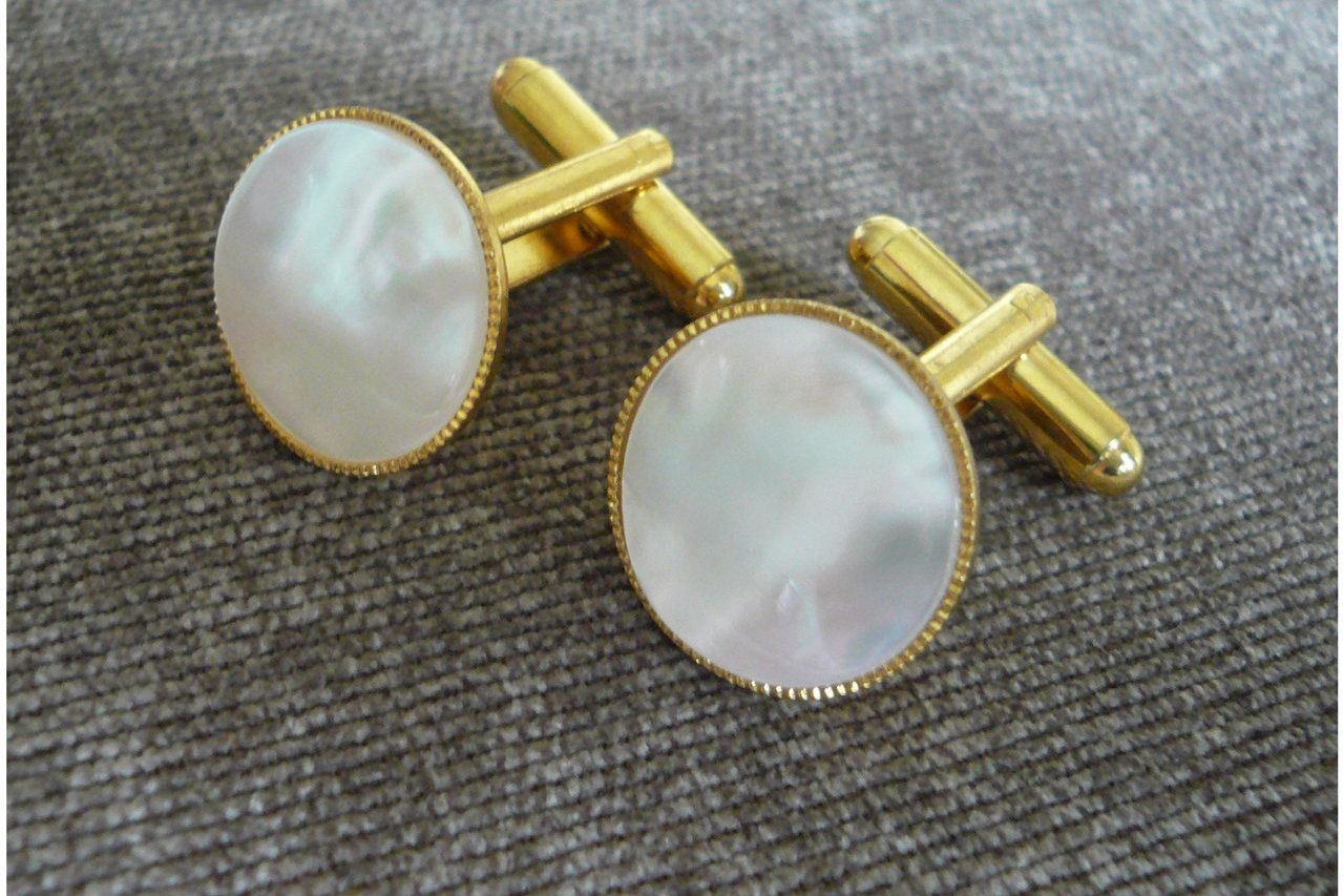 Mother of Pearl Cuff Links Gift for Him 30 Anniversary