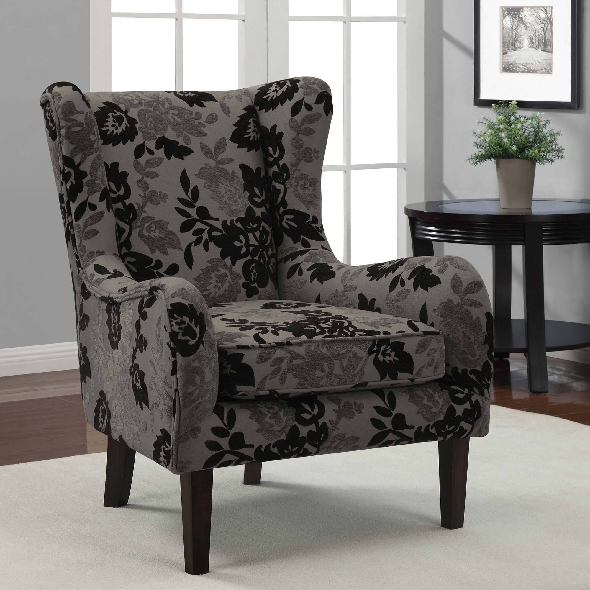 This Chair Features A Classic Wing Chair Design With A Graceful Back And  Arms That Create