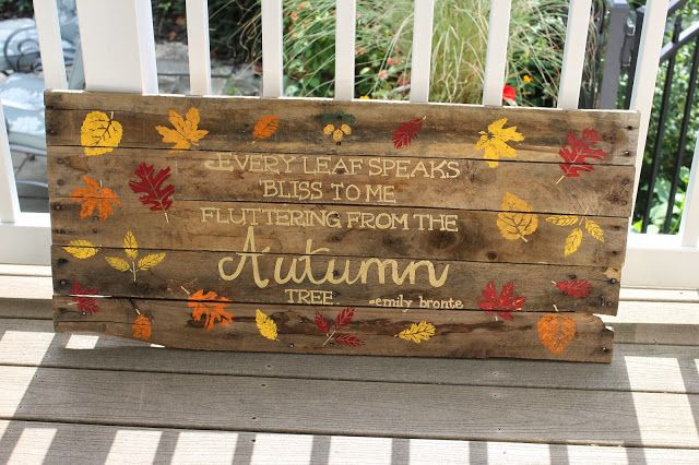 Pallet Sign Tutorial Fall Pallet Signs Fall Pallets Painted Pallet Signs