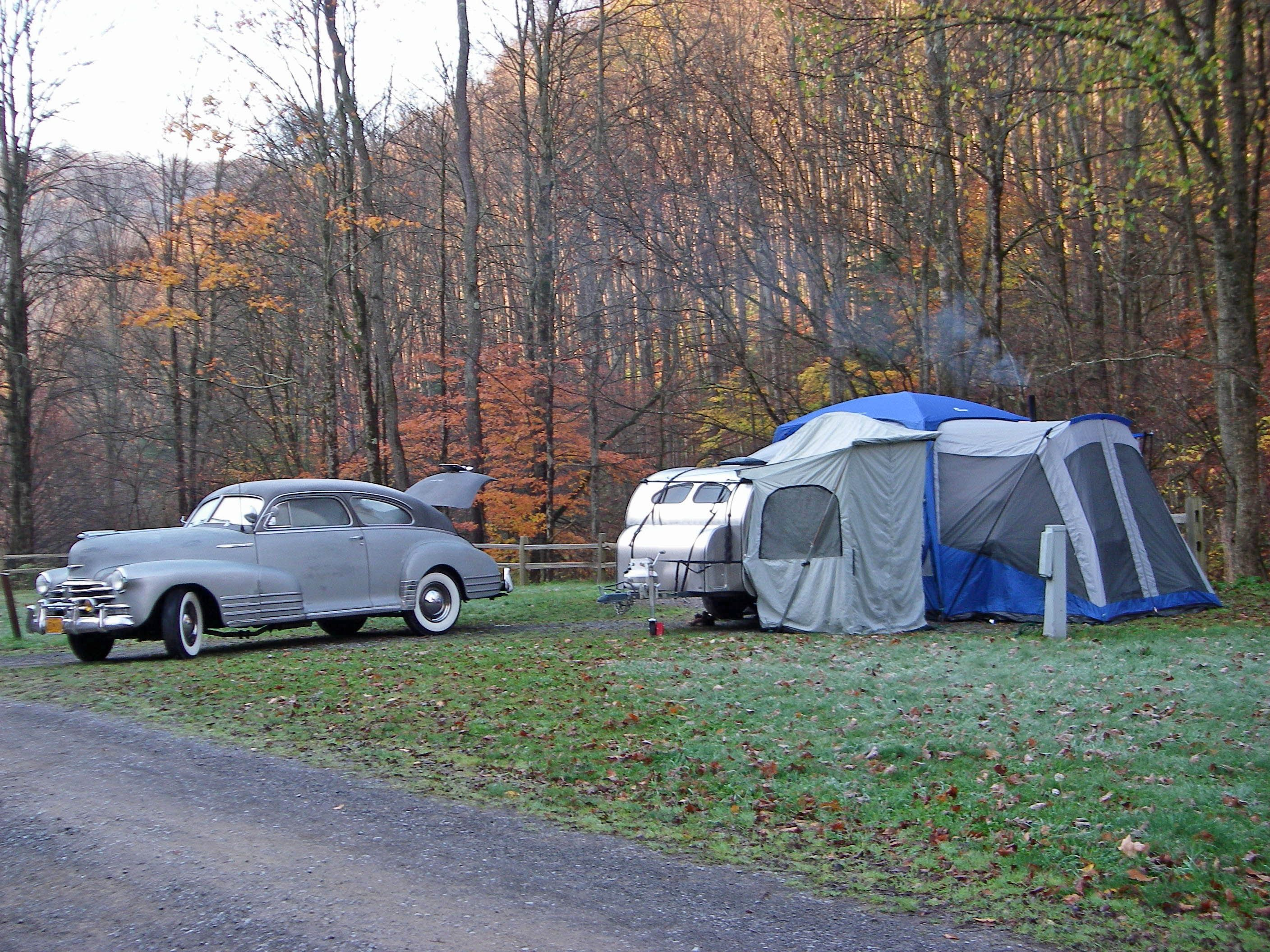 George Thompson at Lyman Run State Park in PA. hooked up the Sportz 84000 SUV tent to a tear drop trailer! & George Thompson at Lyman Run State Park in PA... hooked up the ...