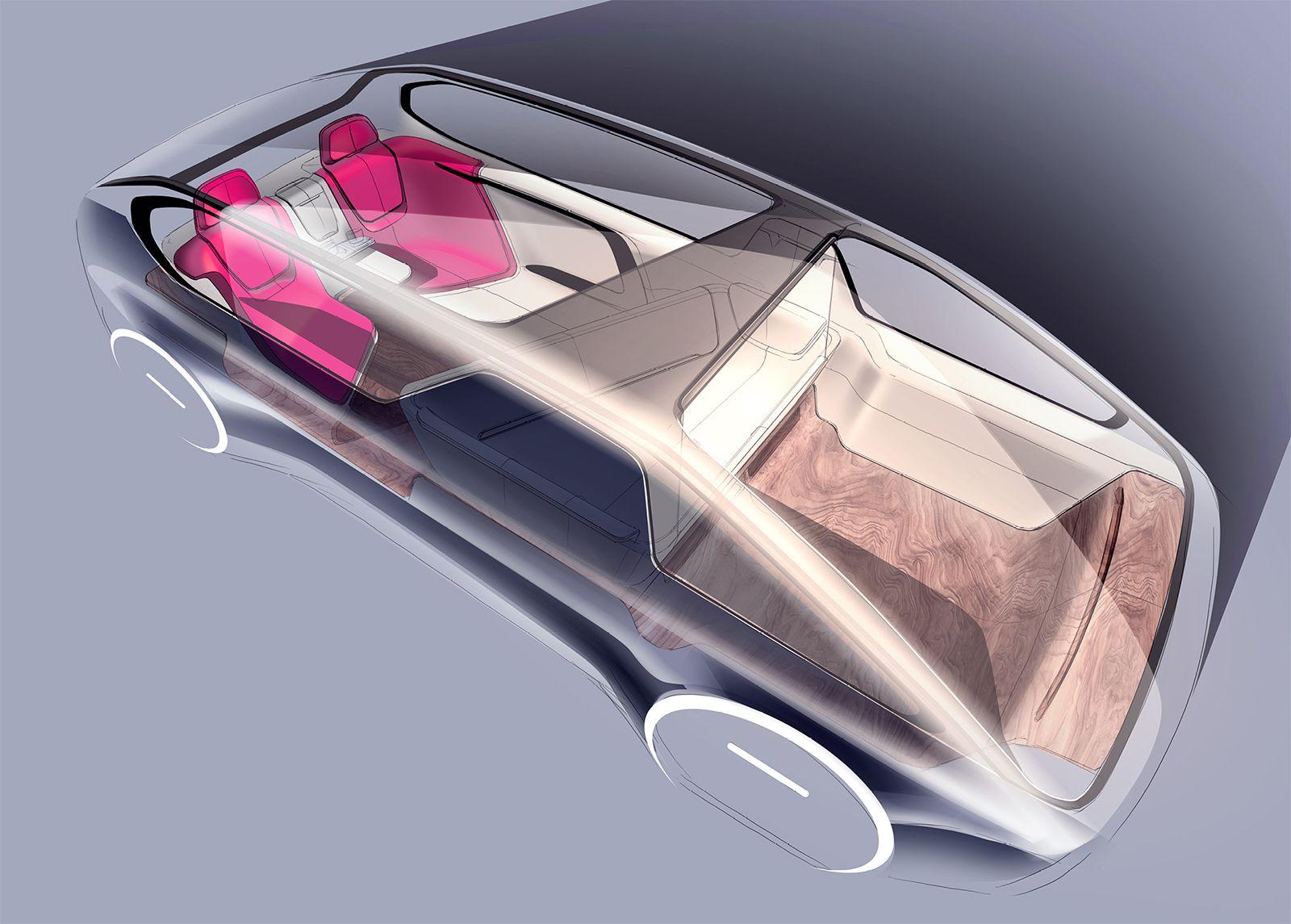 Volvo Voyage by Ding Zeng Car interior sketch, Car