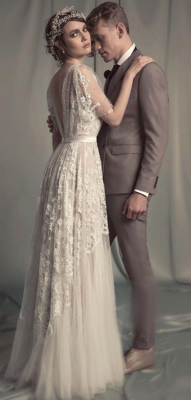 Vintage bohemian wedding dress  Hila Gaon  Bridal Collection feminine glamorous and authentic