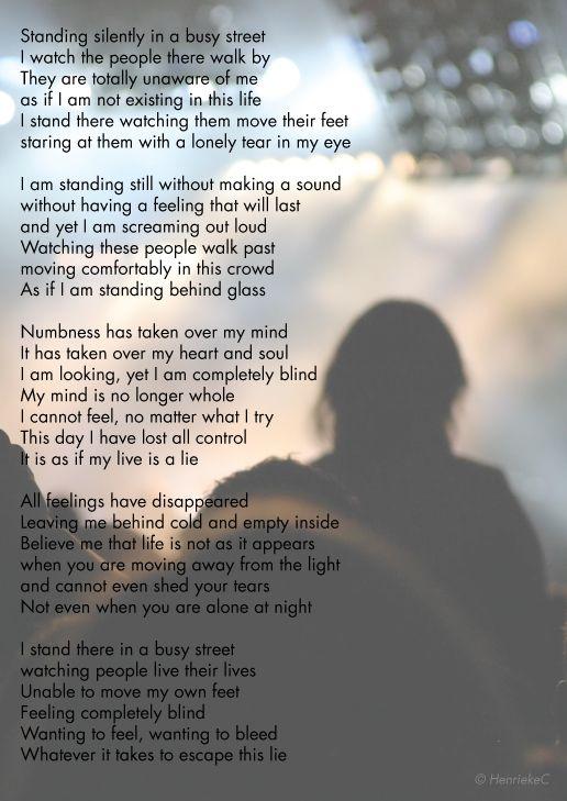 Poem - Numb - By a friend of mine, Henrieke