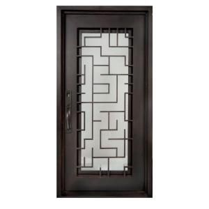 Iron Doors Unlimited 40 In X 98 In Bel Sol Classic Full Lite Painted Oil Rubbed Bronze Clear