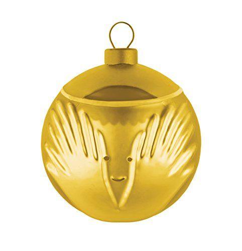 Alessi Weihnachtskugel Angioletto Engel aus Glas in gold AMJ13 6 GD - Neuheit Weihnachten 2015