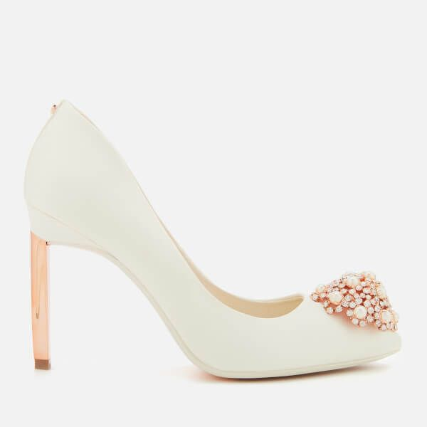 17fb649ee54348 Ted Baker Women s Peetch 2 Satin Court Shoes - Ivory