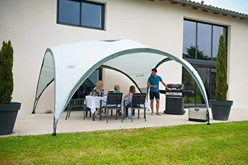Coleman Event Shelter Party Tent 3 6 X 3 6 Metres Grey White Best Offer For Outdoorfull Com In 2020 Party Tent Tent Tent Awning