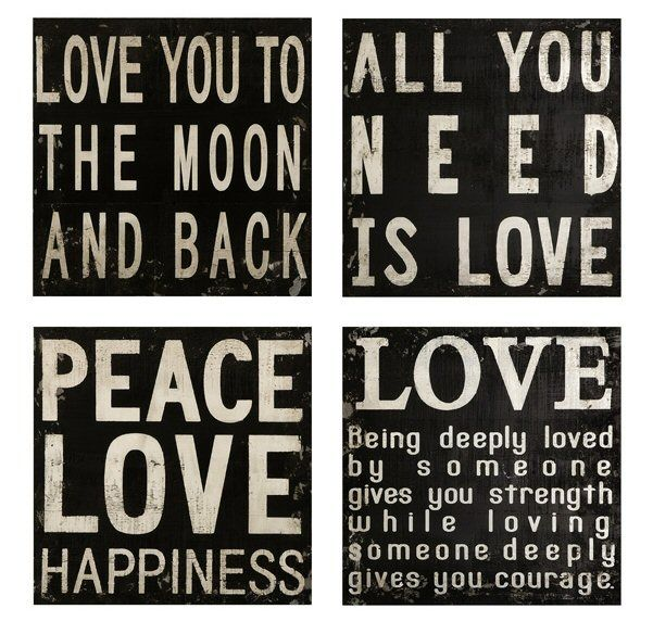 Wood Word Wall Art wood plaques with sayings | collier black and white quotes wood