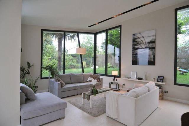 agrandissement maison avec baie vitrée - Google Search Salon
