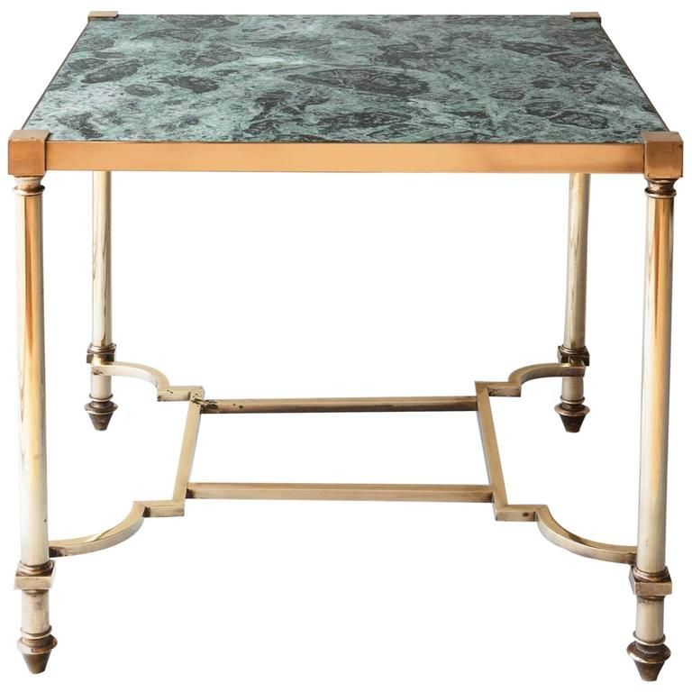 Art Deco French Coffee Table With Green Marble Attributed To Maison Jansen 1940 From A Unique Collection Of An Furniture French Coffee Table Table Furniture