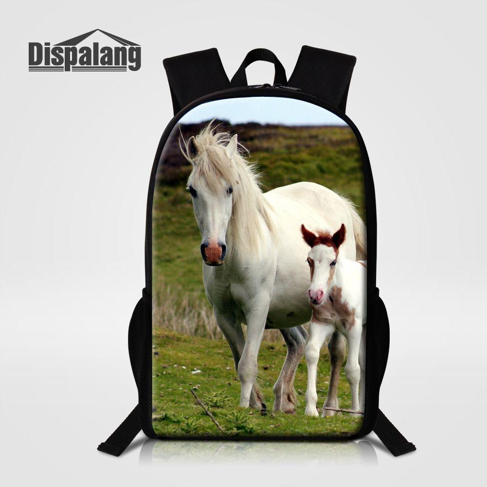 3eb3faeea1 Dispalang 16 Inch Multifunction Knapsack Brand Designer School Bag For  Teenager Girls Boys Cute Horse Printing Backpack Mochilas