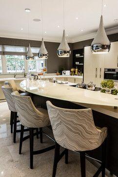 Kingswood Surrey Contemporary Kitchen Home Decor Kitchen Modern Kitchen Design Breakfast Bar Kitchen