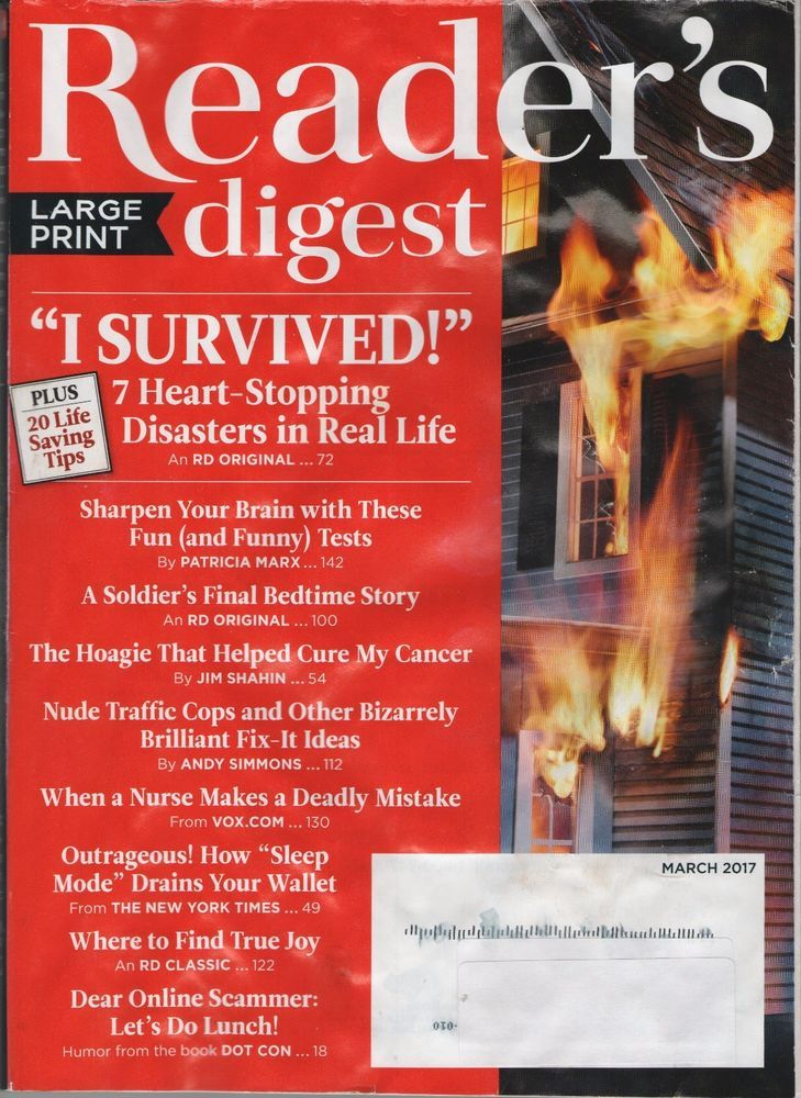 readers digest march 2017 (large print) sharpen your brain, dear ...