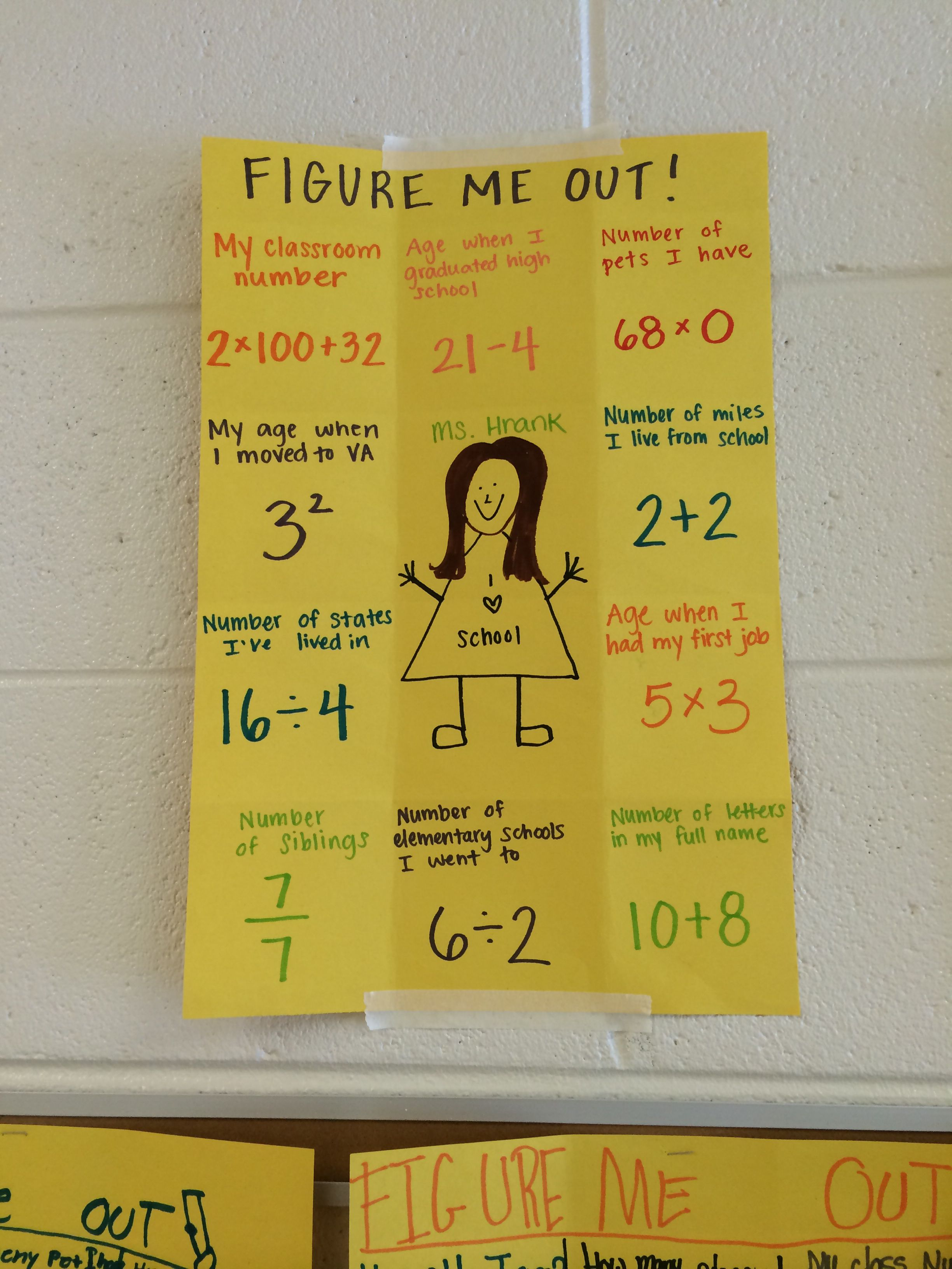 Figure Me Out Beginning Of The Year Math Activity To Get