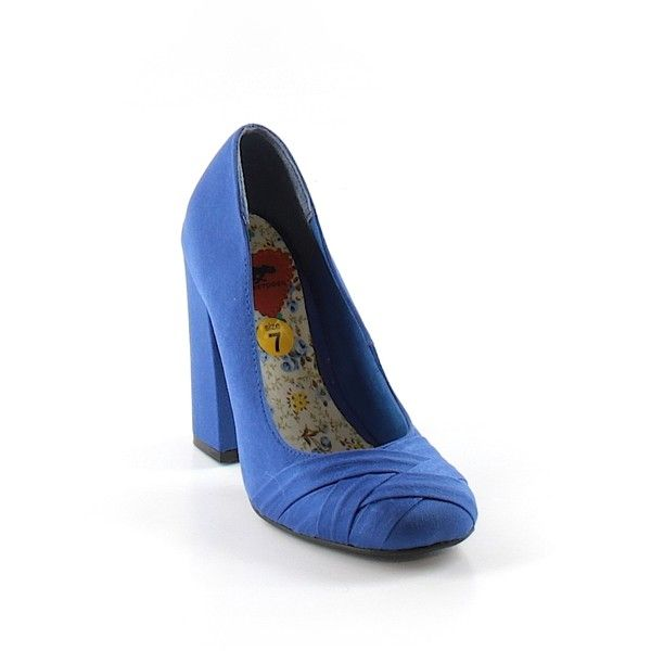 Pre-owned Rocket Dog Heels ($15) ❤ liked on Polyvore featuring shoes, pumps, dark blue, rocket dog shoes, pre owned shoes, rocket dog and dark blue shoes