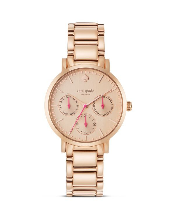 kate spade new york Multi Function Rose Gold–Plated Gramercy Watch, 34mm