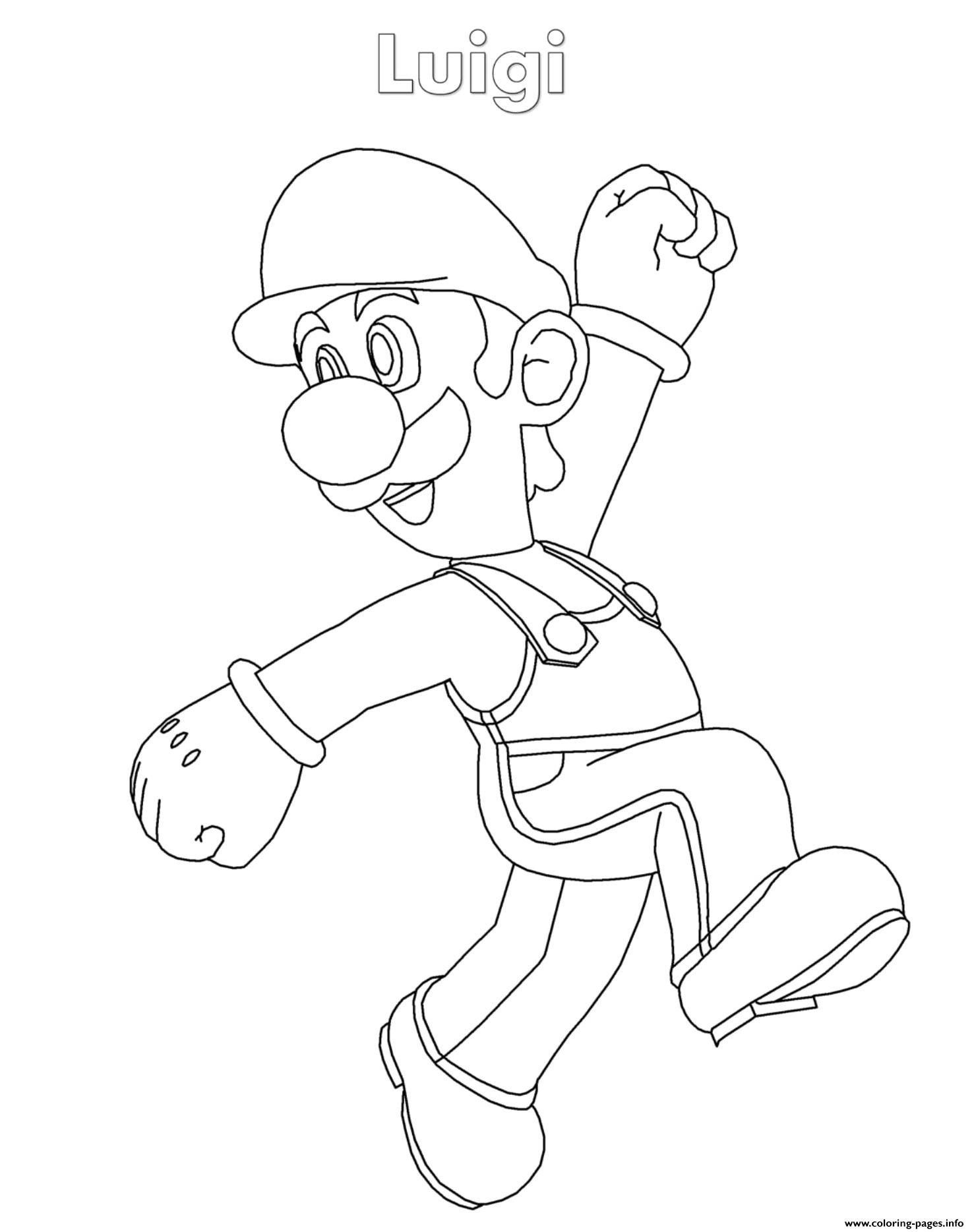 Mario Coloring Pages to Print Luigi Super Mario Nintendo ...
