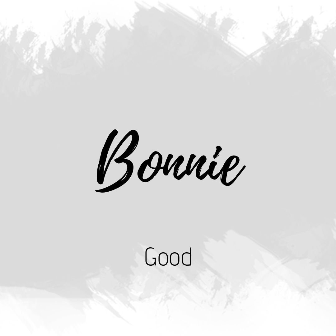 Bonnie Aesthetic Words Cute Names Character Names
