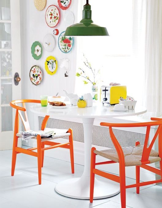 orange kitchen chairs cabinets brands vintage kitchens drop leaf table storage bench and folding create a unique