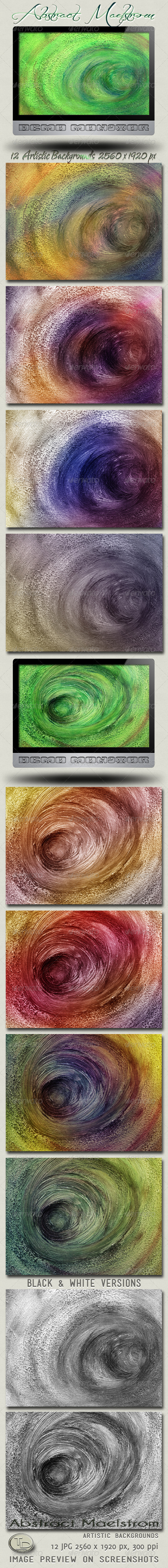 Abstract Maelstrom Artistic Backgrounds