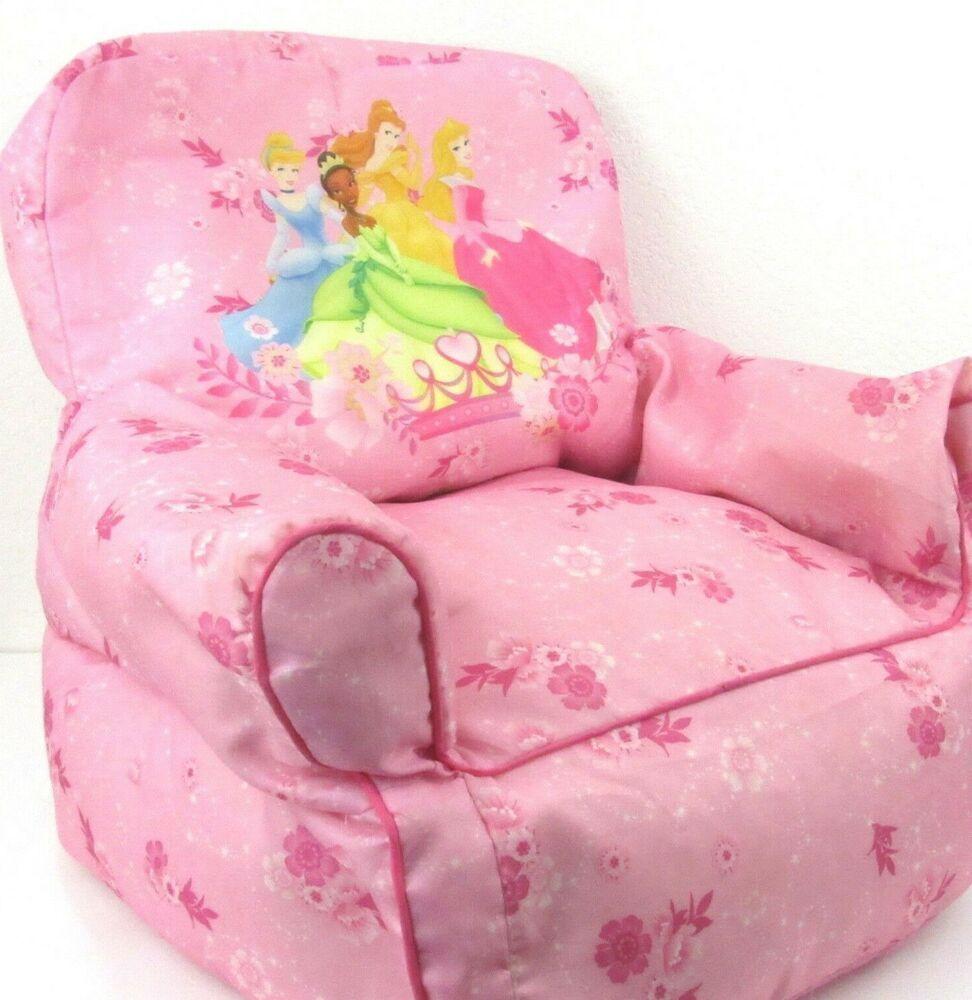 Disney Princess Bean Bag Sofa Chair Toddler Pink Washable Cinderella Belle Tiana Disney Bean Bag Chair Sofa Bean Bag Sofa Bean Bag Chair Kids