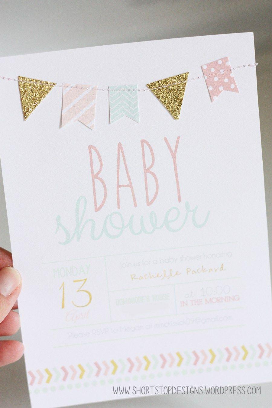 Invitation Option | Vida Welcomes Baby Clara | Pinterest