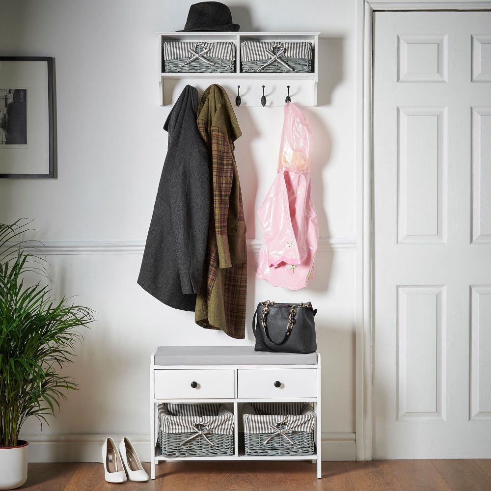If You Need Somewhere To Hang Your Coats Too The Vonhaus Wall Hanging Hall Rack Perfectly Matches Seat Storage Unit