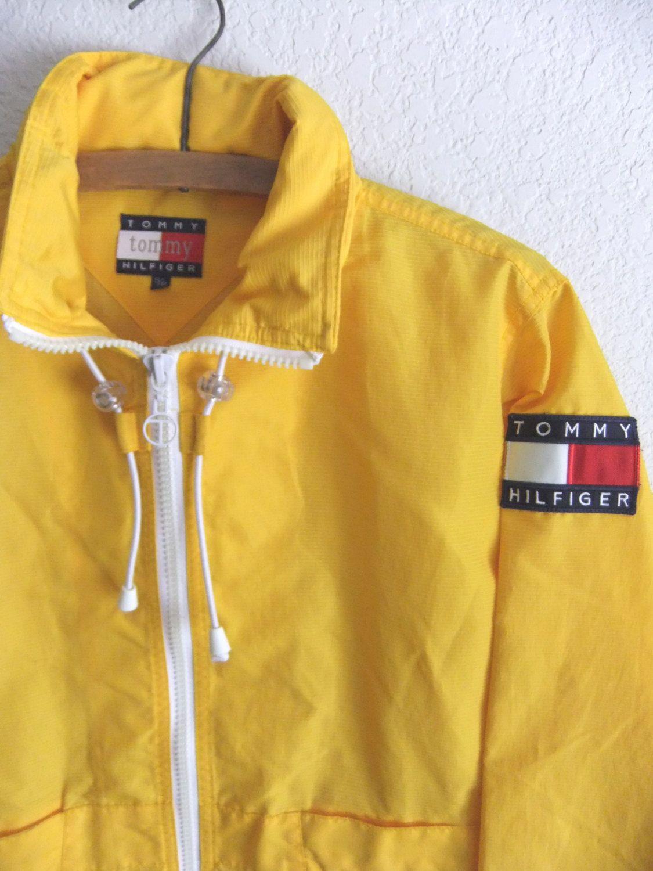 ef335e9ba8d Tommy Hilfiger Windbreaker, Windbreaker Jacket, Vintage, Rain Jacket,  Popular, Yellow,