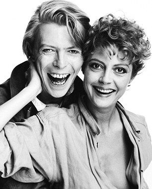 David Bowie With Girlfriend Susan Sarandon In The Early 80