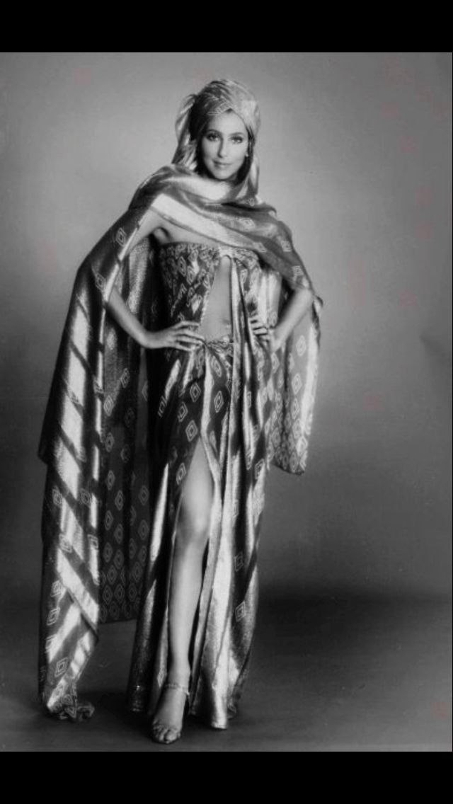 Cher in an outfit by Bob Mackie