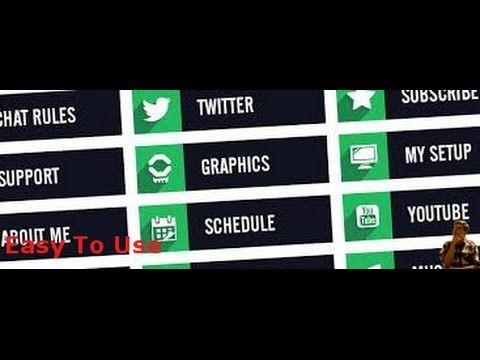 Easy To Use Twitch Pannel Maker Twitch Panels Twitch Tube Youtube