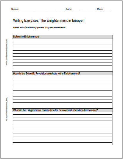 Sample Essay English Enlightenment Essays   Free To Print Pdf Grades  Define The  Enlightenment How Did The Scientific Revolution Contribute To The  Enlightenment Thesis Essay Example also Essays On Different Topics In English Enlightenment Essays   Free To Print Pdf Grades  Define  Essay Topics High School