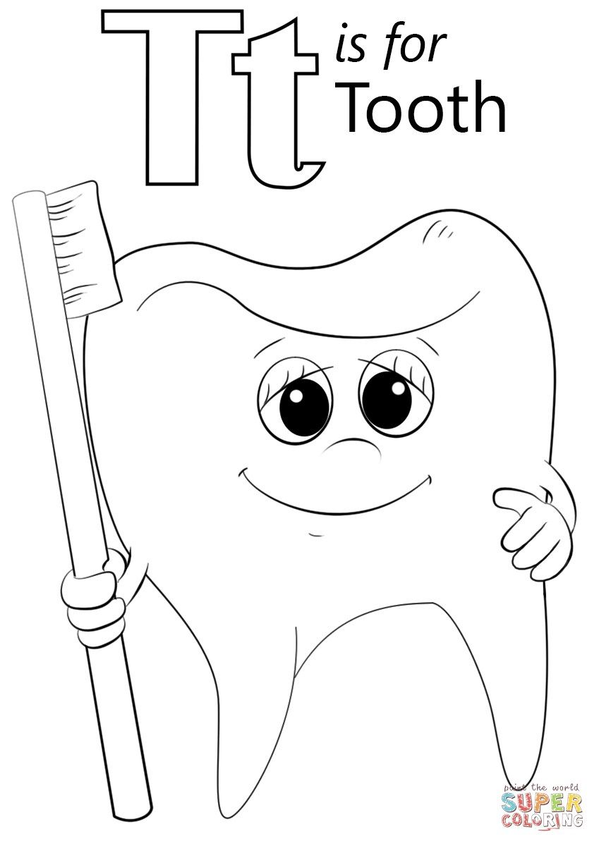 Great Image of Letter T Coloring Page Preschool coloring