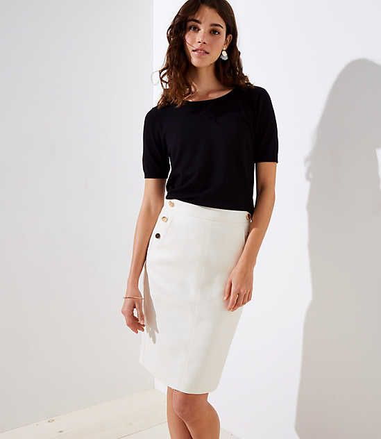 737139e690 Shop LOFT for stylish women's clothing. You'll love our irresistible Sailor  Pocket Pencil Skirt - shop LOFT.com today!