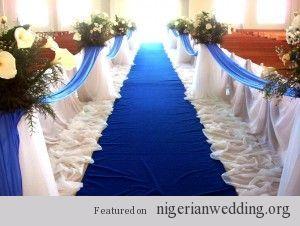 Nigerian Wedding Church Decoration 6 Blue Wedding Decorations
