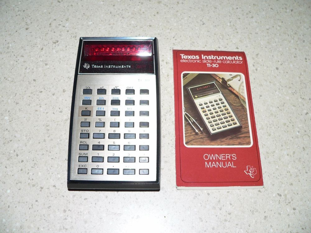 Vintage Texas Instruments Ti 30 Red Led Calculator Red Led