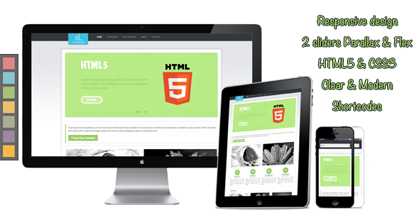 Amazing Pure Html5 Css3 Template Collection - Resume Template ...