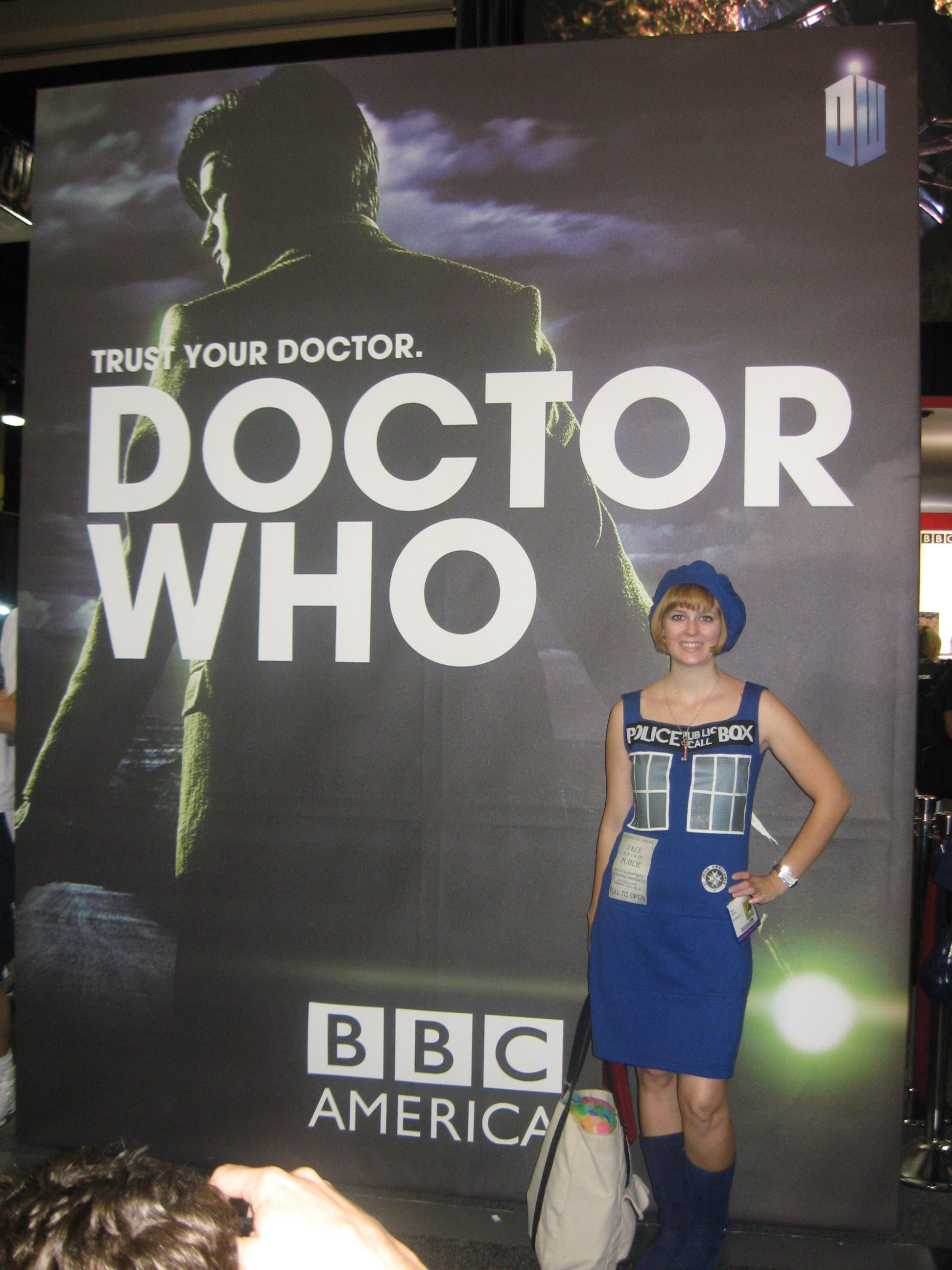 The Tardis Dress I Made for Comic-Con.  I love me some Doctor Who!!